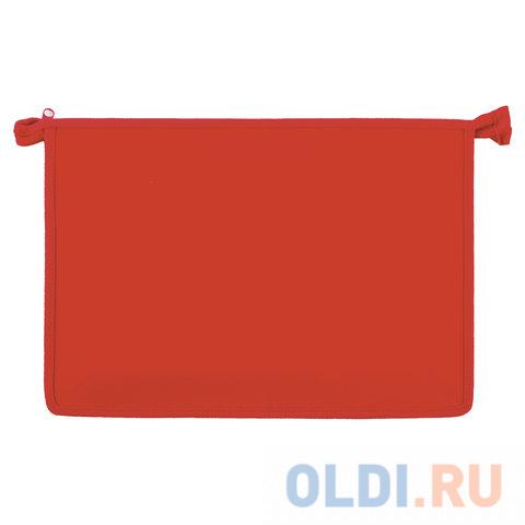 Папка для тетрадей А4 ПИФАГОР, пластик, молния сверху, один тон, красная, 228211 папка для тетрадей а4 пифагор пластик молния сверху прозрачная красная 228208