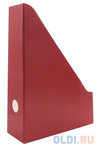Накопитель архивный, вертикальный, лакированный микрогофрокартон, 470 г/кв.м,227х75х305 мм, красный фото