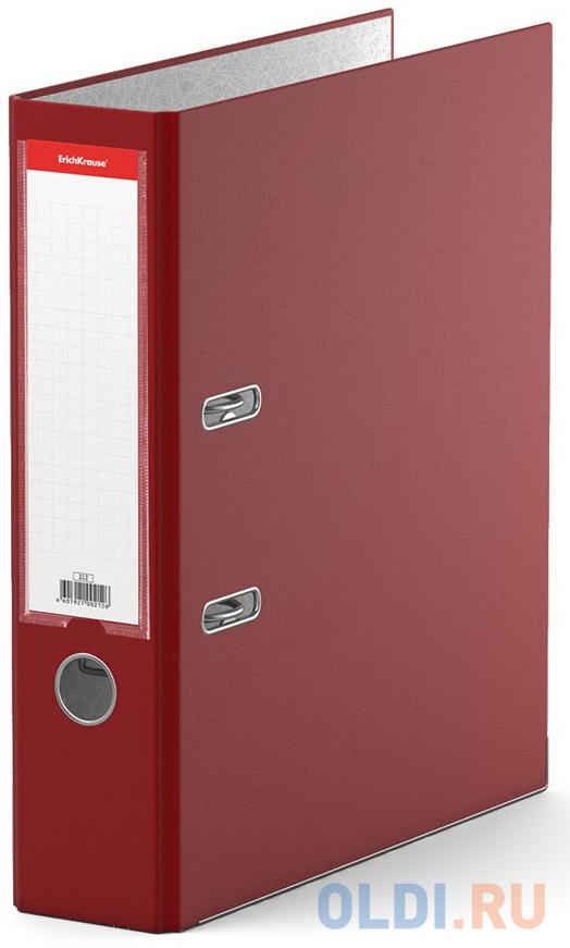 Папка–регистратор с арочным механизмом ErichKrause®, Business, А4, 70 мм, бордовый фото
