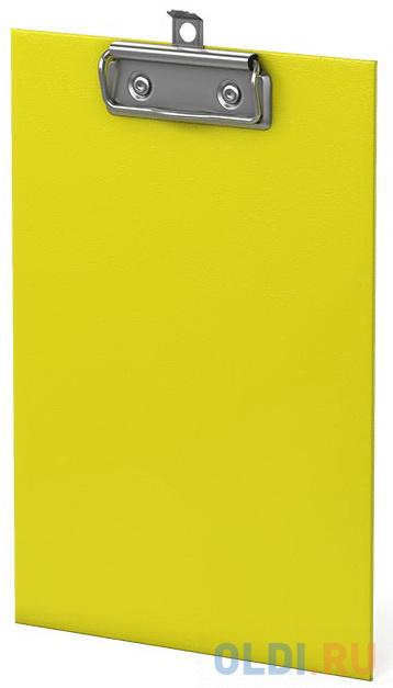 Планшет с зажимом ErichKrause® Neon, А5, желтый фото