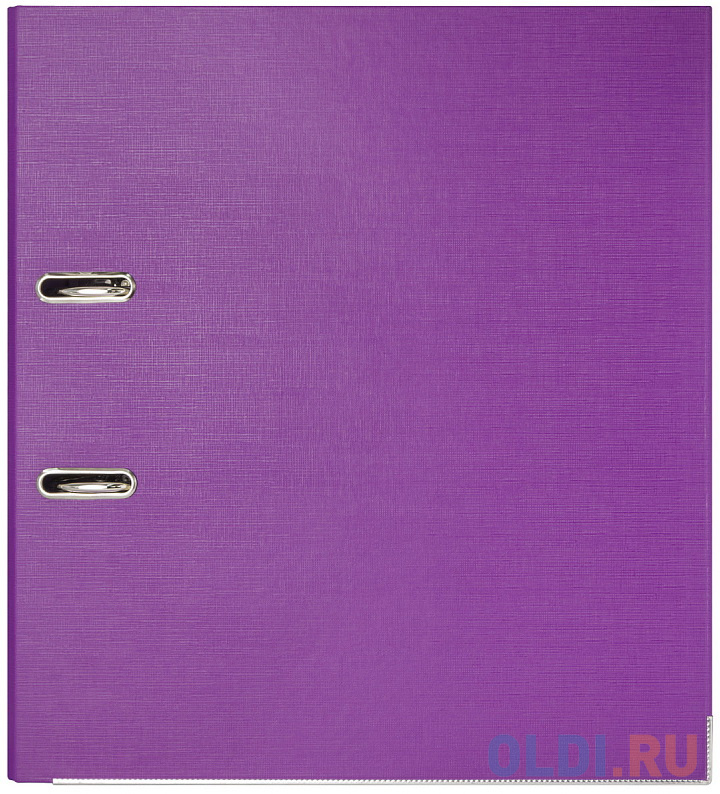 Папка-регистратор 80 мм, PVC двухсторонняя, фиолетовая, с металлической окантовкой папка регистратор 80 мм pvc зеленая с металлической окантовкой