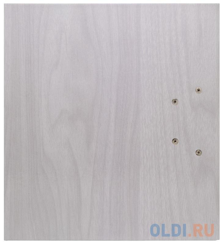 Папка-регистратор ламинированная, 80 мм, Ольха серая фото