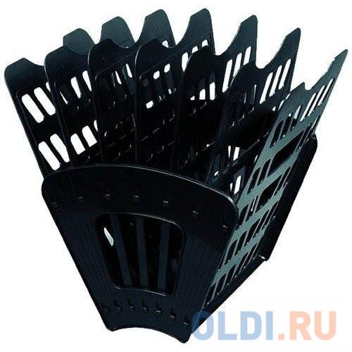 Лоток для бумаг, вертикально-горизонтальный, шестисекционный, черный Лт-96 лоток для бумаг sponsor вертикально горизонтальный семисекционный черный st905 7