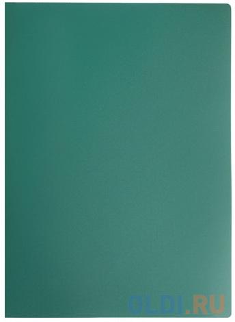 Папка на 4 кольцах STAFF, 25 мм, зеленая, до 170 листов, 0,5 мм, 225727 фото