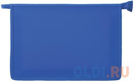 Папка для тетрадей А4 ПИФАГОР, пластик, молния сверху, один тон, синяя, 228212 папка для тетрадей а4 пифагор пластик молния сверху прозрачная красная 228208