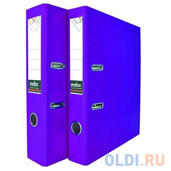 Папка-регистратор COLOURPLAY, 80 мм, ламинированная, неоновая фиолетовая фото