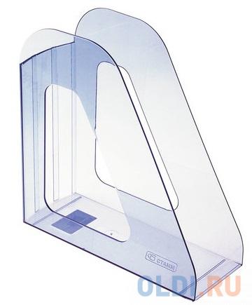 Лоток вертикальный для бумаг СТАММ Фаворит, ширина 90 мм, тонированный голубой, ЛТ702 лоток вертикальный для бумаги стамм фаворит тонированный темно красный вишня