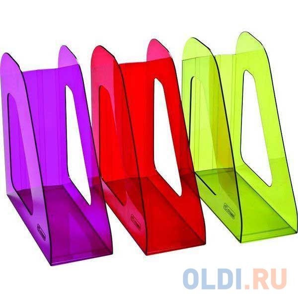 Лоток для бумаг ФАВОРИТ, вертикальный , тонированный /Слива/ ЛТ-709 лоток вертикальный для бумаги стамм фаворит тонированный темно красный вишня