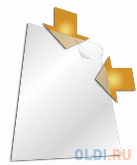 Папка-уголок DURABLE, толщина пластика 0.15 мм, выемка для пальца, прозрачная, цена за 1 шт фото
