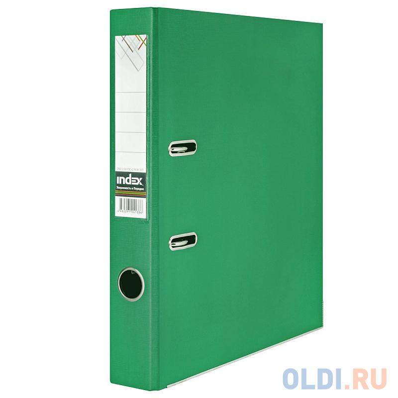 Папка-регистратор 50 мм, PVC двухсторонняя, зеленая, с металлической окантовкой папка регистратор 80 мм pvc зеленая с металлической окантовкой