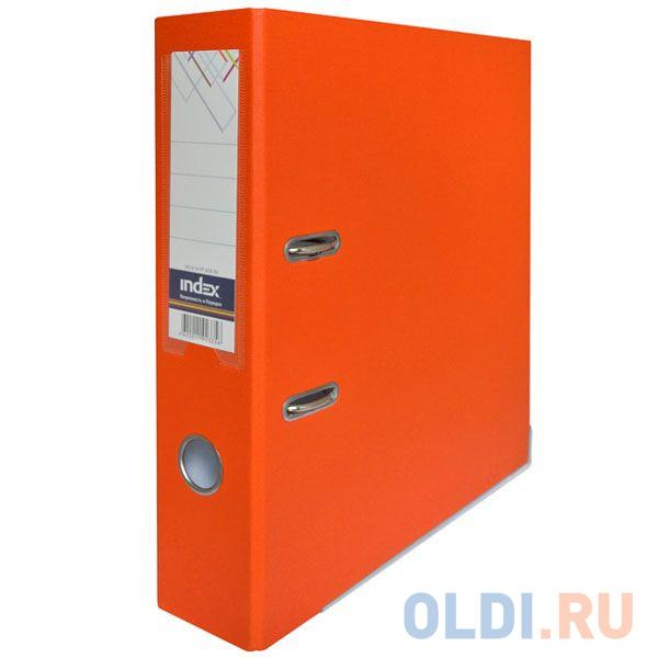 Папка-регистратор с покрытием PVC и металлической окантовкой, 80 мм, А4, оранжевая IND 8/50 PP NEW OR папка регистратор 80 мм pvc зеленая с металлической окантовкой