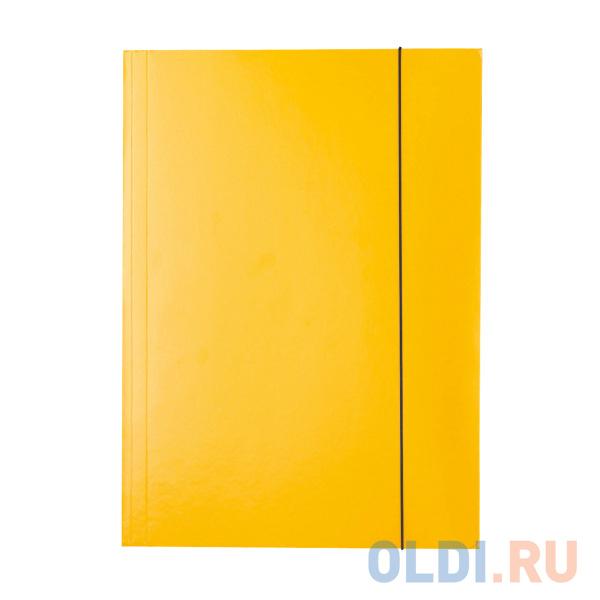 Папка на резинках ESSELTE, ф.А4, лакированный картон (400г/м2), желтый 13438 фото