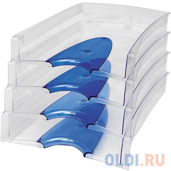 Лоток для бумаг горизонтальный LUX, синий IT808Bu фото