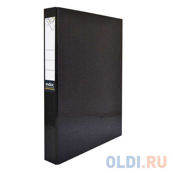 Папка-файл ламинированная на 4 кольцах, черная IND 4 D30/ЧЕР фото
