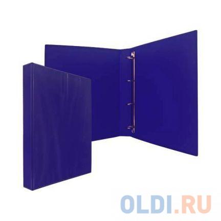 Папка-файл на 4 кольцах, темно-синяя, PVC,35 мм, диаметр 20мм 08-1693-2/ТС визитница на 120 визиток на кольцах разм 13х19 см темно синяя pvc