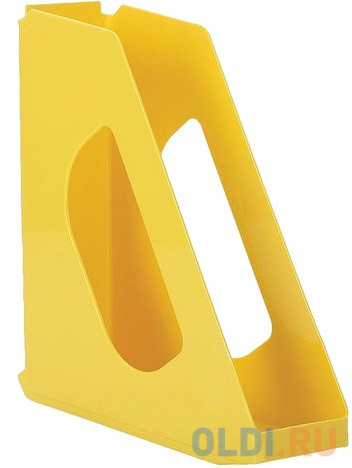 Лоток вертикальный для бумаг ESSELTE VIVIDA, ширина 72 мм, желтый, 623936