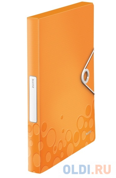 Папка-бокс на резинке LEITZ WOW,оранжевый 46290044 фото