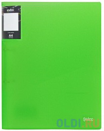 Папка на 2 кольцах COLOURPLAY Light, ф.A4, 0.6мм, прозрачная, зеленая папка на 2 кольцах index satin форзац ф a4 темно зеленая 0 6мм 2см