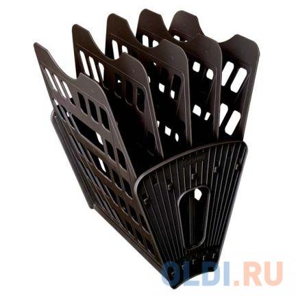 Лоток для бумаг, вертикально-горизонтальный, пятисекционный, черный Лт-91 лоток для бумаг sponsor вертикально горизонтальный семисекционный черный st905 7