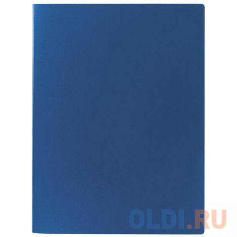 Папка на 2 кольцах STAFF, 21 мм, синяя, до 120 листов, 0,5 мм, 225716 визитница на 120 визиток на кольцах разм 13х19 см темно синяя pvc