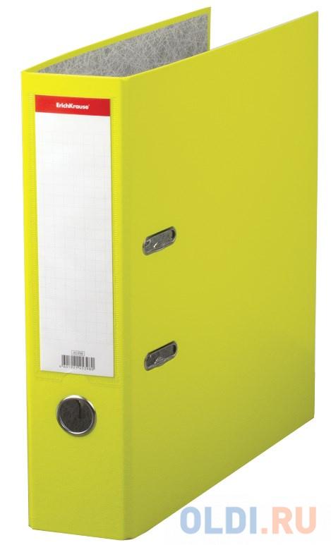 Папка–регистратор ERICH KRAUSE Neon, ламинированная, 70 мм, желтая, 45398