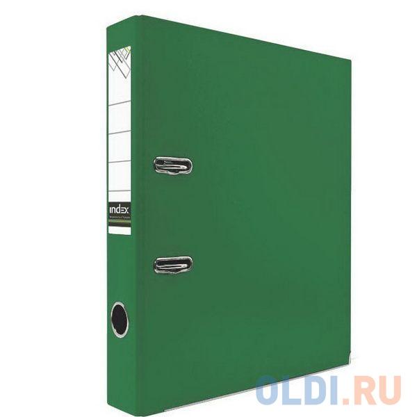 Папка-регистратор с покрытием PVC и металлической окантовкой, 50 мм, А4, зеленая IND 5/30 PVC NEW ЗЕЛ папка регистратор 80 мм pvc зеленая с металлической окантовкой