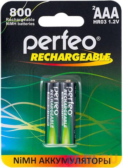 Аккумуляторы 800 mAh Perfeo AAA800/2BL AAA 2 шт