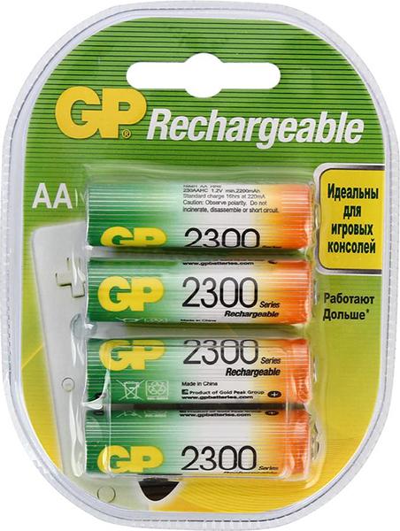 Аккумуляторы 2300 mAh GP 230AAHC-2DECRC4 AA 4 шт