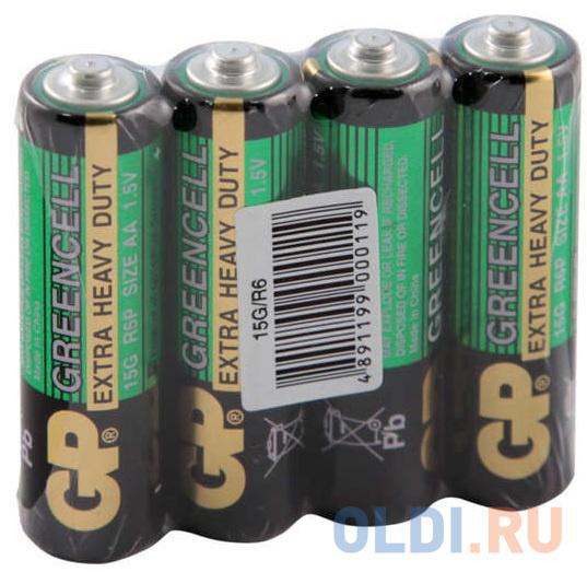 батарейки gp 15g os4 aa 4шт Батарейки GP 15G-OS4/GP15G-2CR4 AA 4 шт