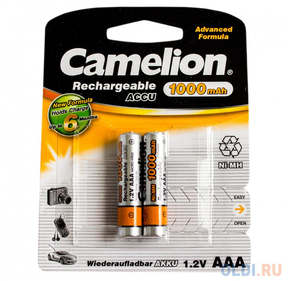 Аккумулятор 1000 мАч Camelion NH-AAA1000BP2 AAA 2 шт батарейки удлинители и переходники camelion аккумулятор nh aa2300arbp2
