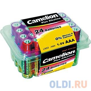 Батарейки Camelion Plus Alkaline AAA 24 шт PB-24 батарейки camelion plus alkaline aaa 24 шт pb 24
