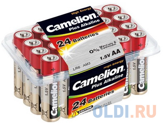 Camelion..LR 6 Plus Alkaline PB-24 (LR6-PB24, батарейка,1.5В) батарейки camelion plus alkaline aaa 24 шт pb 24
