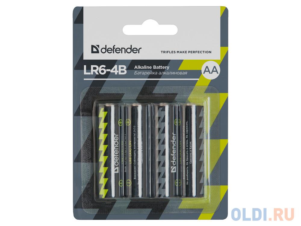 Батарейки Defender (AA) LR6-4B 4PCS 4 шт 56012 батарейки smartbuy sbbz 2a04b aa 4 шт