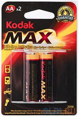 Фото - Батарейки KODAK Max LR6-2BL AA 2 шт опциональный принтер kodak 1324391