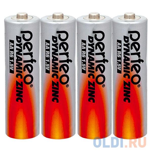 Батарейки Perfeo R6/4SH Dynamic Zinc AA 4 шт батарейки smartbuy sbbz 2a04b aa 4 шт