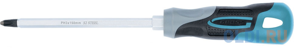 Отвертка GROSS 12149 PH3 x 150мм S2, трехкомпонентная ручка
