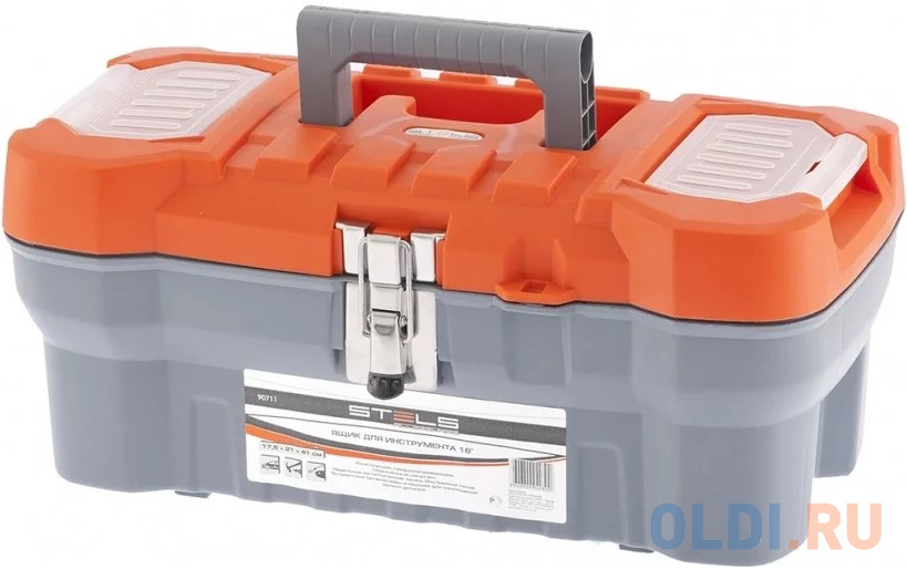 Ящик STELS 90711 для инструмента с мет. замками 16 175х210х410мм stanley ящик для инструмента 2000 с 2 мя встроенными органайзерами и металлическими замками пластм