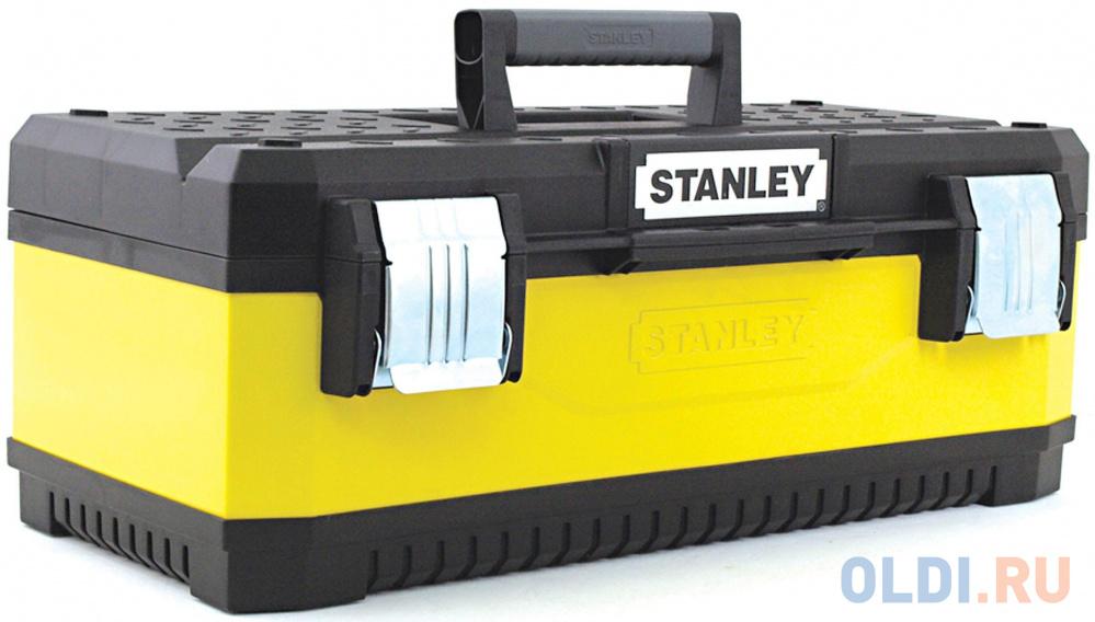 Ящик для инструментов STANLEY Yellow Metal Plastic Toolbox 23 ящик для инструмента stanley stanley basic toolbox 19 1 79 217