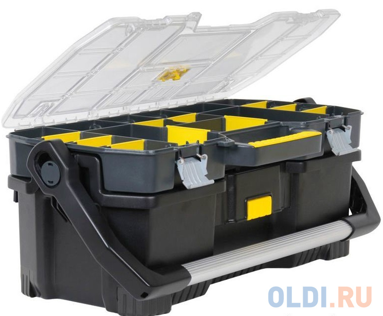 Ящик STANLEY 1-97-514 со съемным органайзером 24 67x32.3x25.1см ящик с органайзером stanley jumbo 1 92 908 31 4x56 2x30 см желтый черный