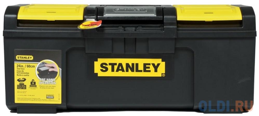 Stanley ящик для инструмента stanley line toolbox пластмассовый 24 / 60х28,1х25,5см (1-79-218) ящик с органайзером stanley 1 79 216 line toolbox 39 4x22x16 2 см 16 черный