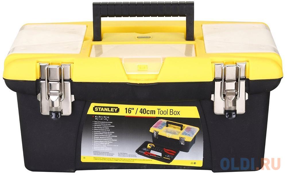 Stanley ящик для инструмента jumbo с 2-мя съемными органайзерами в крышке, отсеком для отверточных ящик для инструмента stanley jumbo 1 92 905