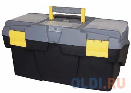 Ящик STANLEY 1-92-076 16 для инструмента с 2-мя консольными и 2-мя органайзерами stanley ящик для инструмента jumbo с 2 мя съемными органайзерами в крышке отсеком для отверточных