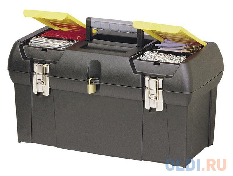 Stanley ящик для инструмента 2000 с 2-мя встроенными органайзерами и металлическими замками пластм stanley ящик для инструмента jumbo с 2 мя съемными органайзерами в крышке отсеком для отверточных