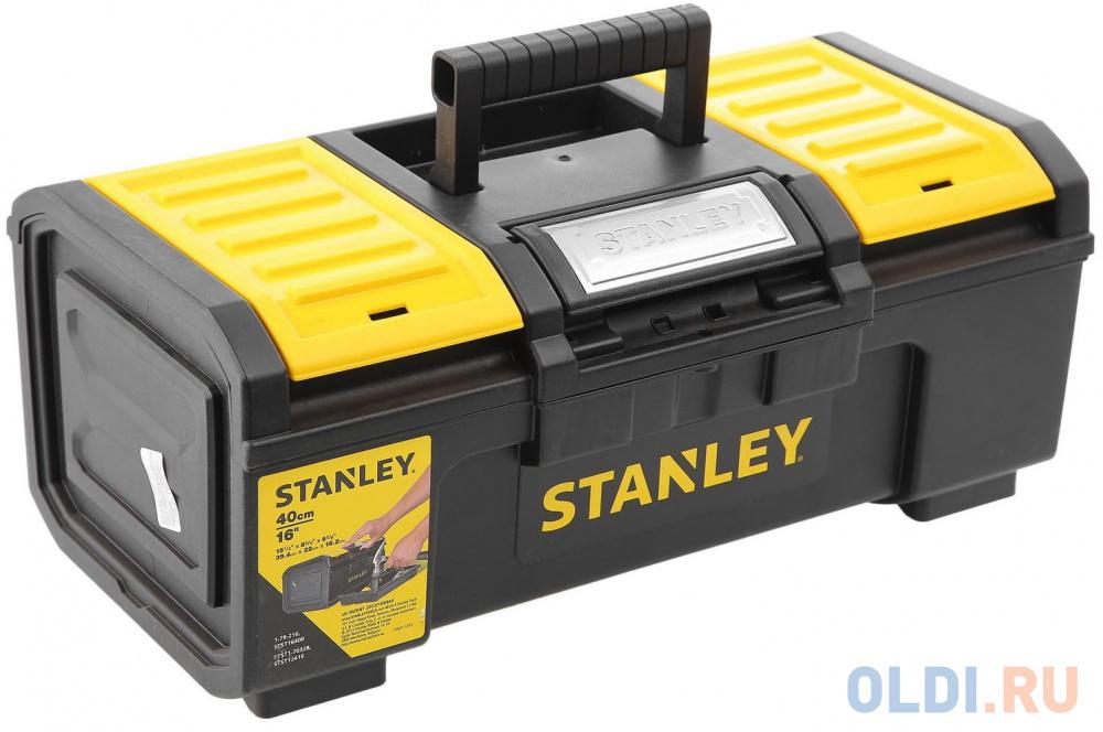 Ящик для инструмента STANLEY 1-79-216 Stanley Basic Toolbox пластм. 16 / 39.4х 22х16.см ящик для инструмента stanley essential черно желтый металлопластмассовый 16 дюймов 40 6х20 5х19 5 см