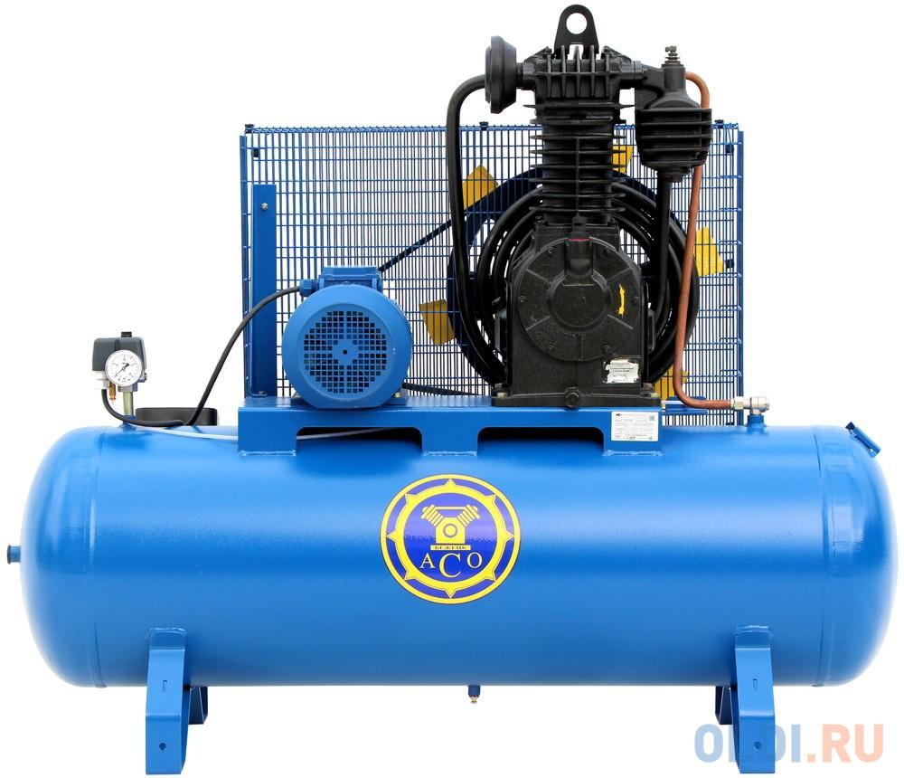 Поршневой компрессор Бежецкий АСО С-415М ременной. 5,5 кВт. 380 В. 900 л/мин. ресивер: 230 л