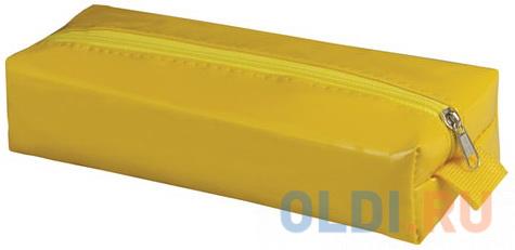 """Картинка для """"Пенал-косметичка BRAUBERG под искусственную кожу, """"""""Блеск"""""""", желтый, 20х6х4 см, 226718"""""""