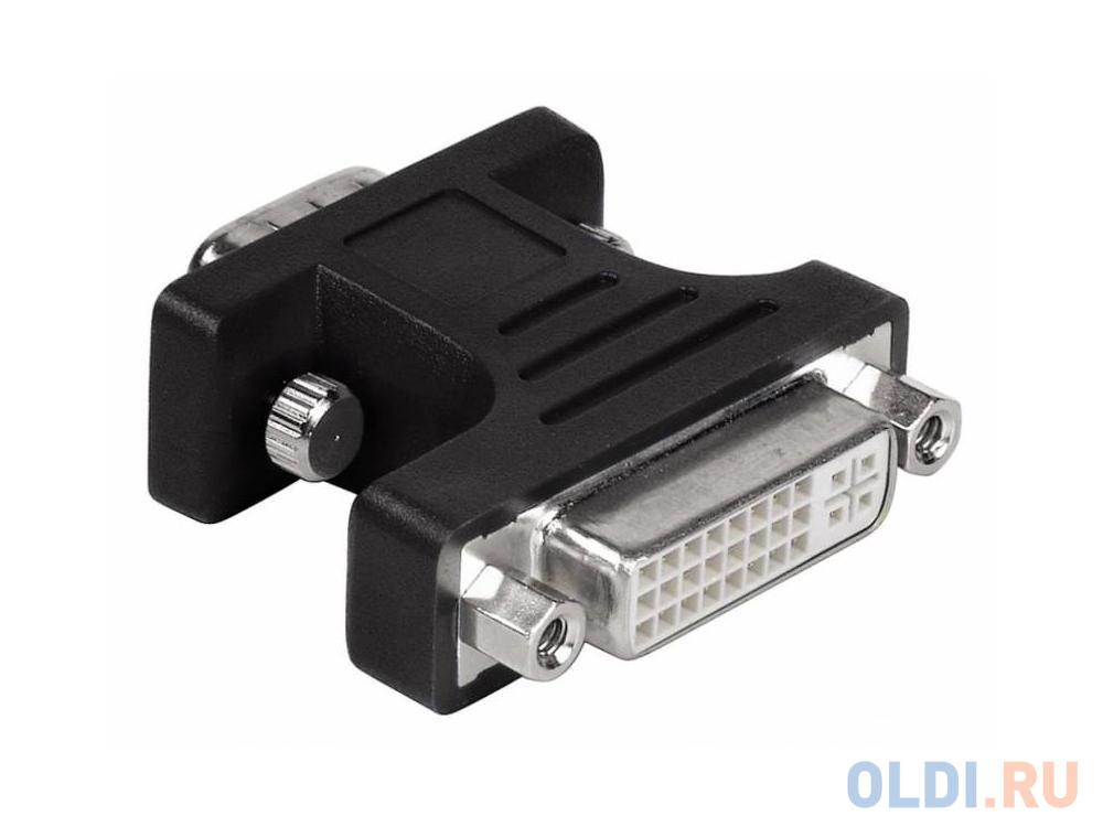 Переходник VGA DVI HAMA H-34624 черный переходник vga dvi hama h 34624 черный