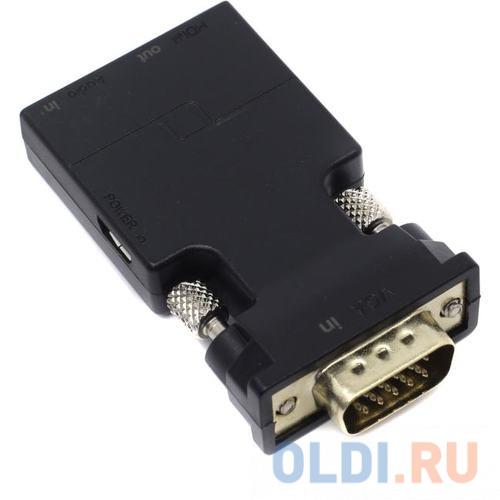 Переходник HDMI VGA VCOM Telecom CA337 круглый черный переходник telecom hdmi vga ta558