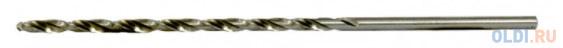 Сверло спиральное по металлу 2,5 х 95 мм Р6М5, удлиненное, 2шт.// Барс