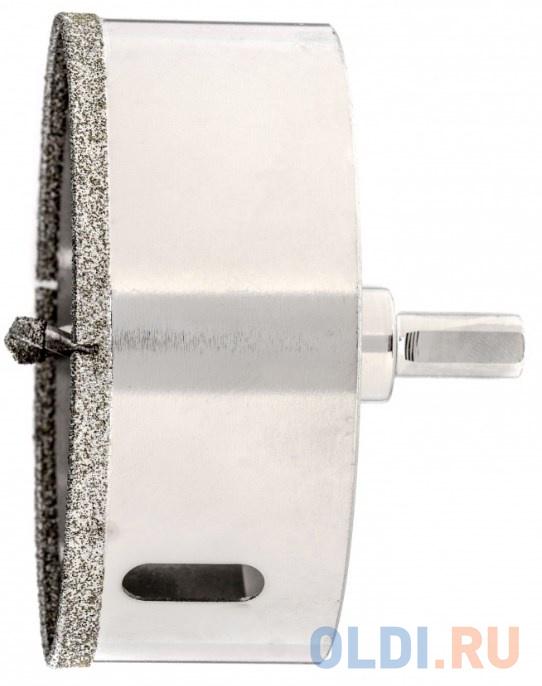 Сверло алмазное по керамограниту 95 х 67 мм 3-гранный хвостовик// Matrix.